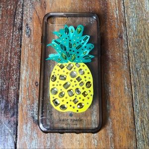 Kate Spade Clear Jeweled Pineapple iPhone 8 Case